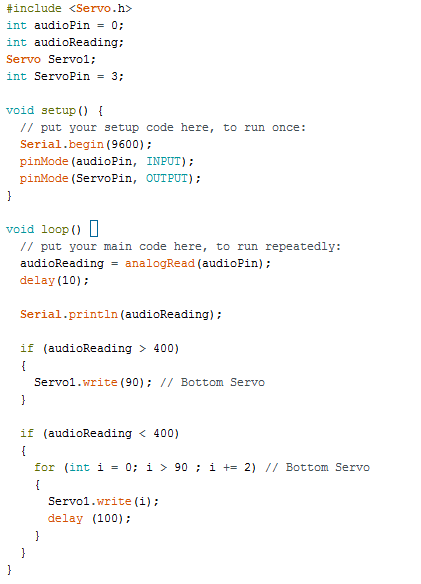 CODE FOR SOUND